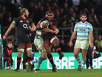 England's Semesa Rokoduguni in action during todays game <br /> <br /> Photographer Rachel Holborn/CameraSport<br /> <br /> International Rugby Union Friendly - Old Mutual Wealth Series Autumn Internationals 2017 - England v Argentina - Saturday 11th November 2017 - Twickenham Stadium - London<br /> <br /> World Copyright &copy; 2017 CameraSport. All rights reserved. 43 Linden Ave. Countesthorpe. Leicester. England. LE8 5PG - Tel: +44 (0) 116 277 4147 - admin@camerasport.com - www.camerasport.com