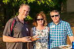Watertown, CT- 18 May 2017-051817CM23- SOCIAL MOMENTS-- From left, Don Cullen, with Joan and Joe Cristiano representing MacDermid Performance Solutions are photographed during the annual Greater Waterbury Campership Fund picnic at Camp Mataucha in Watertown on Thursday.   Christopher Massa Republican-American