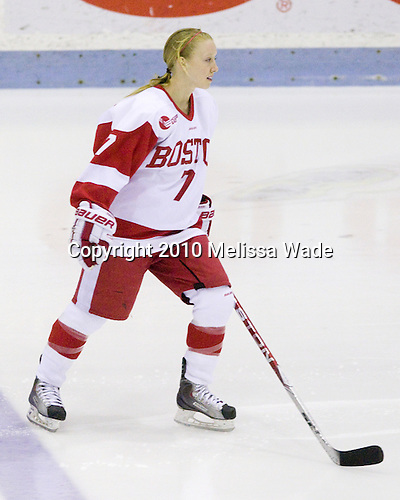 Lauren Cherewyk (BU - 7) - The Boston University Terriers defeated the Boston College Eagles 3-1 on Sunday, February 28, 2010, in Hockey East Quarterfinal play at Walter Brown Arena in Boston, Massachusetts.