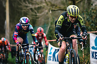 team Mitchelton Scott rider up the Molenberg<br /> <br /> 12th Women's Omloop Het Nieuwsblad 2020 (BEL)<br /> Women's Elite Race <br /> Gent – Ninove: 123km<br /> <br /> ©kramon