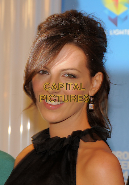 "KATE BECKINSALE .""Nothing But The Truth"" - Press Conference held at Sutton Place Hotel during the 33rd Annual Toronto International Film Festival, 08 September 2008..portrait headshot  black collar ponytail .CAP/ADM/BPC.©Brent Perniac/Admedia/Capital Pictures"