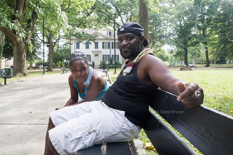 James Bolden and Deborah Leatherberry (left) are seen here in Vernon Park in East Germantown, Philadelphia, Pennsylvania, on Tues., July 26, 2016.