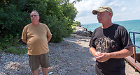 Brothers, Dan  and David Clements have waterfront property along the Cull Drain trail.