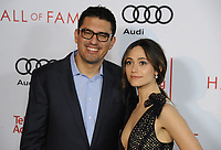www.acepixs.com<br /> <br /> November 15 2017, LA<br /> <br /> Actress Emmy Rossum (R) and director Sam Esmail arriving at the Television Academy's 24th Hall of Fame Ceremony at the Saban Media Center on November 15, 2017 in Los Angeles, California.<br /> <br /> By Line: Peter West/ACE Pictures<br /> <br /> <br /> ACE Pictures Inc<br /> Tel: 6467670430<br /> Email: info@acepixs.com<br /> www.acepixs.com