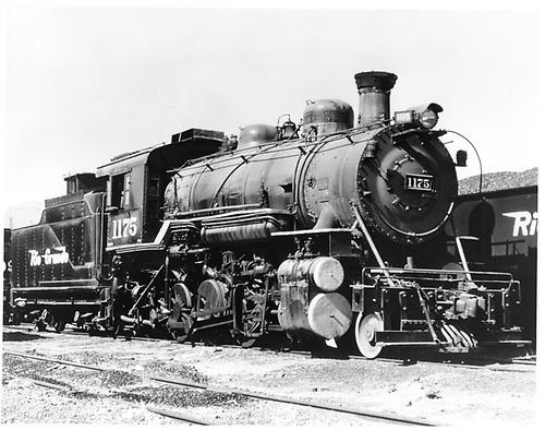 D&amp;RGW #1175 in Salt Lake City.<br /> D&amp;RGW  Salt Lake City, UT  5/1954