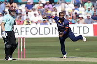 Ashar Zaidi in bowling action for Essex during Essex Eagles vs Surrey, Vitality Blast T20 Cricket at The Cloudfm County Ground on 5th August 2018