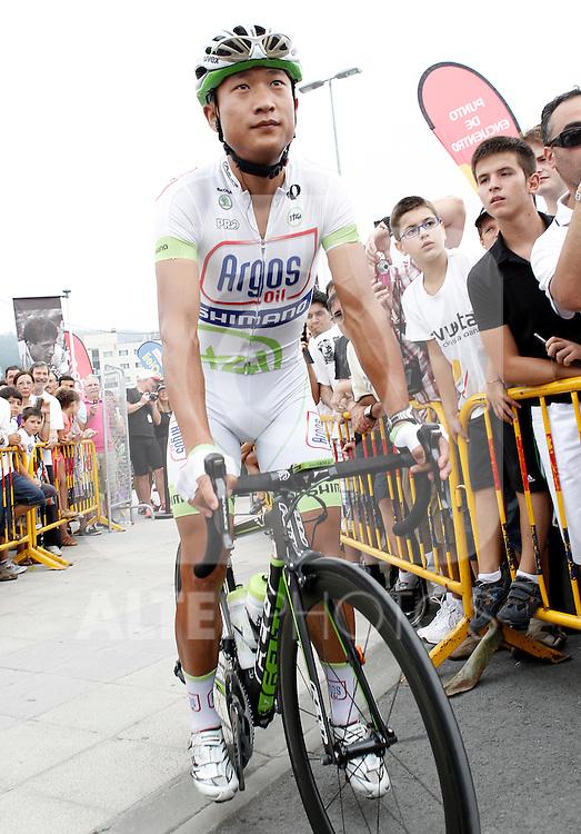Cheng Ji during the stage of La Vuelta 2012 between Barakaldo and Valdezcaray.August 21,2012. (ALTERPHOTOS/Acero)