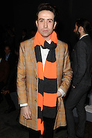 Nick Grimshaw at front row for the TOPMAN Designs show as part of London Collections Men AW14, London.  06/01/2014 Picture by: Steve Vas / Featureflash
