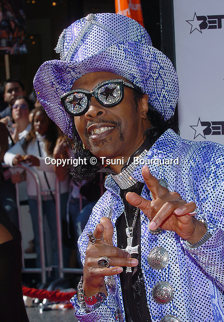 Bootsy Collins arriving at the BET Awards at the Kodak Theatre in Los Angeles. June 29, 2004.