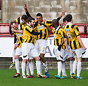 East Fife's Nathan Austin is congratulated after he scores their second goal.