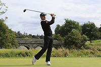 Rasmus Hojgaard of Team Denmark on the 1st during Round 3 of the WATC 2018 - Eisenhower Trophy at Carton House, Maynooth, Co. Kildare on Friday 7th September 2018.<br /> Picture:  Thos Caffrey / www.golffile.ie<br /> <br /> All photo usage must carry mandatory copyright credit (&copy; Golffile | Thos Caffrey)