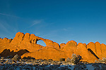 Skyline Arch in winter,  Arches National Park, Utah, USA, October 12, 2007.  Photo by Gus Curtis.