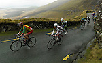 Cyclists in the Tour of Munster riding over Conor Pass in 2010..Picture by Don MacMonagle
