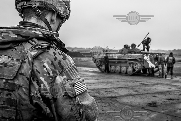 Ukrainian troops are trained in mobile artillery by the US Army at the International Peacekeeping Training Center.