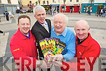 Members of the Rose of Tralee Street Carnival group pictured in the Square, Tralee on Tuesday, from left: Bryan Carr, Mark Sullivan, Danny Leane and Richard O'Halloran.
