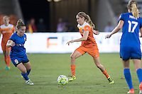 Houston, TX - Sunday Sept. 25, 2016: Kim Little, Morgan Brian during a regular season National Women's Soccer League (NWSL) match between the Houston Dash and the Seattle Reign FC at BBVA Compass Stadium.