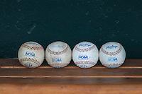 NCAA baseballs on June 15, 2015 at TD Ameritrade Park in Omaha, Nebraska. (Andrew Woolley/Four Seam Images)
