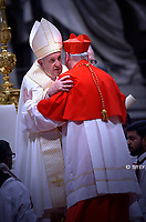 New Cardinal, English prelate Michael Louis Fitzgerald , during an Ordinary Public Consistory for the creation of new cardinals on October 5, 2019 in the Vatican. Pope Francis appoints 13 new cardinals at the 2019 Ordinary Public Consistory, choosing prelates whose lifelong careers reflect their commitment to serve the marginalized and local church communities, hailing from 11 different nations and representing multiple religious orders.