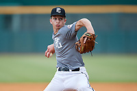 Nathan Deschryver (1) of Bainbridge High School in Silverdale, WA during the Perfect Game National Showcase at Hoover Metropolitan Stadium on June 17, 2020 in Hoover, Alabama. (Mike Janes/Four Seam Images)