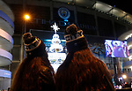 Manchester City fans look at a Christmas tree before the UEFA Champions League match against Shakhtar Donetsk at the Etihad Stadium, Manchester. Picture date: 26th November 2019. Picture credit should read: Darren Staples/Sportimage