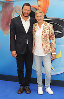 LONDON, ENGLAND - JULY 10: Dominic West and Ellen Degeneres attend the UK Gala Screening of Finding Dory at Odeon Leicester Square on July 10, 2015 in London, England.<br /> CAP/BEL/MediaPunch ***USA and South America Only**