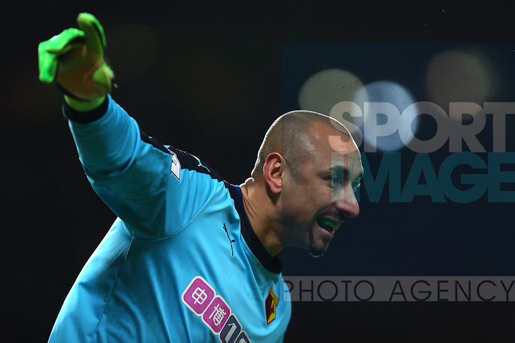 Heurelho Gomes of Watford - Barclay's Premier League - Manchester United vs Watford - Old Trafford - Manchester - 02/03/2016 Pic Philip Oldham/SportImage