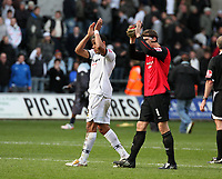 Pictured: Ashley Williams of Swansea City <br /> Re: Coca Cola Championship, Swansea City FC v Cardiff City at the Liberty Stadium. Swansea, south Wales, Sunday 30 November 2008.<br /> Picture by D Legakis Photography / Athena Picture Agency, Swansea 07815441513