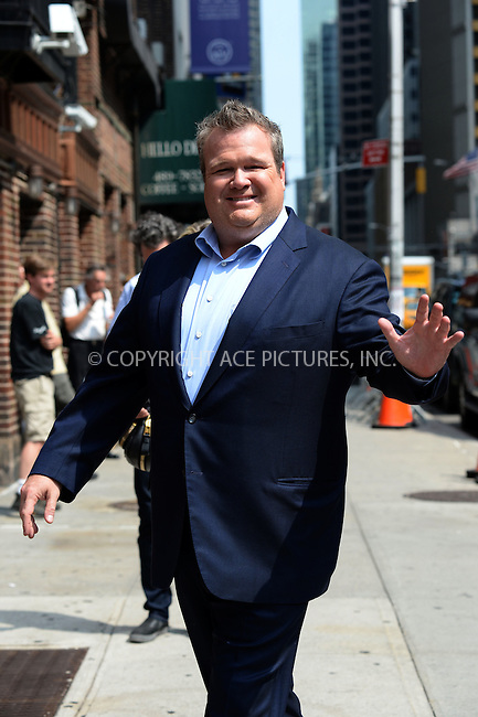 WWW.ACEPIXS.COM <br /> July 23, 2014 New York City<br /> <br /> Eric Stonestreet tapes an appearance on the Late Show with David Letterman on July 23, 2014 in New York City.<br /> <br /> Please byline: Kristin Callahan/ACE Pictures  <br /> <br /> ACEPIXS.COM<br /> Ace Pictures, Inc<br /> tel: (212) 243 8787 or (646) 769 0430<br /> e-mail: info@acepixs.com<br /> web: http://www.acepixs.com