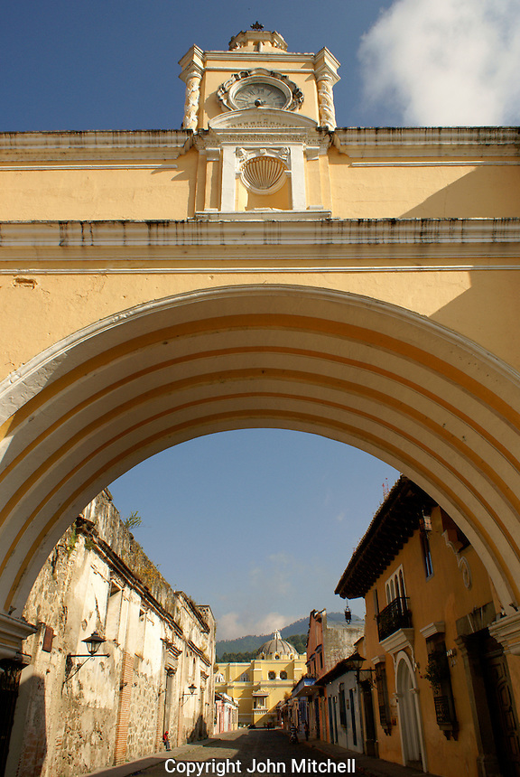 The Arco de Santa Catarina or Arch of Saint Catherine in Antigua, Guatemala. Antigua is a UNESCO World heritage site....