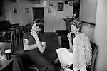 """South Kirkby, Yorkshire. 1979<br /> Andy a 17 year old miner with his girlfriend Gail Kirkham in the village Welfare Club. He told me, that there is """"nothing to do in village apart from spend money on drink."""""""