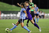 Piscataway, NJ - Wednesday Sept. 07, 2016: Erica Skroski, Alex Morgan during a regular season National Women's Soccer League (NWSL) match between Sky Blue FC and the Orlando Pride FC at Yurcak Field.