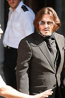 Johnny Depp<br /> Johnny Depp v The Sun libel trial, The Royal Courts of Justice, London, UK - 22 Jul 2020<br /> CAP/GOL<br /> ©GOL/Capital Pictures