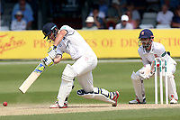 Sam Hain in batting action for Warwickshire as James Foster looks on from behind the stumps during Essex CCC vs Warwickshire CCC, Specsavers County Championship Division 1 Cricket at The Cloudfm County Ground on 21st June 2017