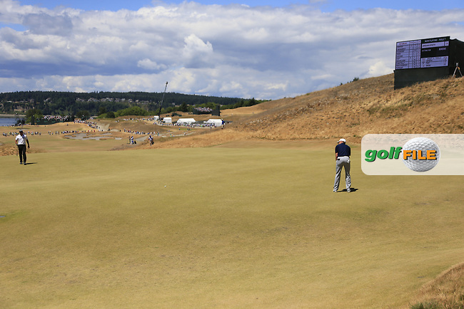 Jordan Speith (USA) putts on the 7th green during Friday's Round 2 of the 2015 U.S. Open 115th National Championship held at Chambers Bay, Seattle, Washington, USA. 6/19/2015.<br /> Picture: Golffile | Eoin Clarke<br /> <br /> <br /> <br /> <br /> All photo usage must carry mandatory copyright credit (&copy; Golffile | Eoin Clarke)