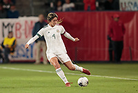 CARSON, CA - FEBRUARY 7: Jocelyn Orejel #4 of Mexico sends a ball upfield during a game between Mexico and USWNT at Dignity Health Sports Park on February 7, 2020 in Carson, California.