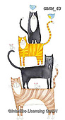 Kate, CUTE ANIMALS, LUSTIGE TIERE, ANIMALITOS DIVERTIDOS, paintings+++++,GBKM63,#ac#, EVERYDAY ,cat,cats