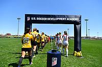 Commerce City, CO - Saturday April 27, 2019: U.S. Soccer Development Academy U-16/17  Girls Spring Showcase match between Penn Fusion Soccer Academy vs Legends FC at Dick's Sporting Goods Park.