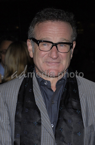 """11 November 2007 - New York, New York - Robin Williams. The New York premiere of Warne Bros. Pictures' """"August Rush"""" held at  the Ziegfeld Theater.  Photo Credit: Bill Lyons/AdMedia *** Local Caption ***"""