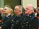 Inspector Gerry Smith and members of An Garda Siochana pictured at the annual road death mass at Augustinian church Drogheda. Photo: Colin Bell/pressphotos.ie