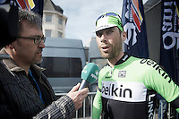Laurens Ten Dam (NLD) interviewed by Chris Picavet of Sporza<br /> <br /> Nokere Koerse 2014