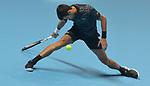 London UK 12th November 2018 Nitto ATP World Tour Finals at 02 Arena London UK Novak Djokovic SRB Vs John Isner USA Djokovic in action during the match
