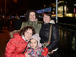 Deborah and Elizabeth Moneraweza, Helen Kelly and Fiona Carroll pictured at the fireworks display at Scotch Hall.  Photo:Colin Bell/pressphotos.ie