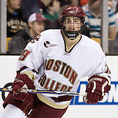 Brock Bradford (Boston College - Burnaby, BC) - The Boston College Eagles defeated the Harvard University Crimson 3-1 in the first round of the 2007 Beanpot Tournament on Monday, February 5, 2007, at the TD Banknorth Garden in Boston, Massachusetts.  The first Beanpot Tournament was played in December 1952 with the scheduling moved to the first two Mondays of February in its sixth year.  The tournament is played between Boston College, Boston University, Harvard University and Northeastern University with the first round matchups alternating each year.