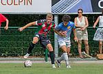 2018-07-29 / Voetbal / seizoen 2018 -2019 / GR Katelijne - KFC Duffel/ Robin vollon (l.GR Katelijne) met Nagim Amini ,Foto: Mpics.be