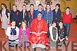 Maeve O'Sullivan, Aoife Hayes, Melissa Ferris, Sophie Cronin, Alice Wainwright, Patrick O'Sullivan, Kealan Cahill, David O'Shea, Jonathan Kissane, Kieran Galvin, Jacinta Murphy and Padraig Cronin, Kilgobnet National School, Beaufort, pictured with Fr Michael Fleming who officiated at the confirmation ceremony in Beaufort on Thursday...........