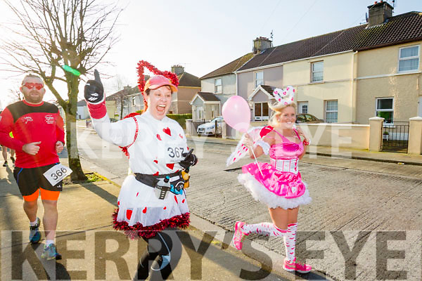 Brian O'Shea, Ashley O'Shea and Marilyn O'Shea, participants who took part in the Kerry's Eye Valentines Weekend 10 mile road race on Sunday.