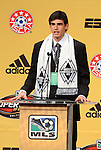 13 January 2011: Vancouver Whitecaps selected Omar Salgado with the #1 pick in the draft. The 2011 MLS SuperDraft was held in the Ballroom at Baltimore Convention Center in Baltimore, MD during the NSCAA Annual Convention.
