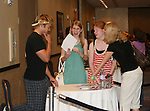 """OLTL's John-Paul Lavoisier """"Rex"""" chats with fans at the One Life To Live Fan Club Luncheon on August 16, 2008 at the New York Marriott Marquis, New York, New York.  (Photo by Sue Coflin/Max Photos)"""