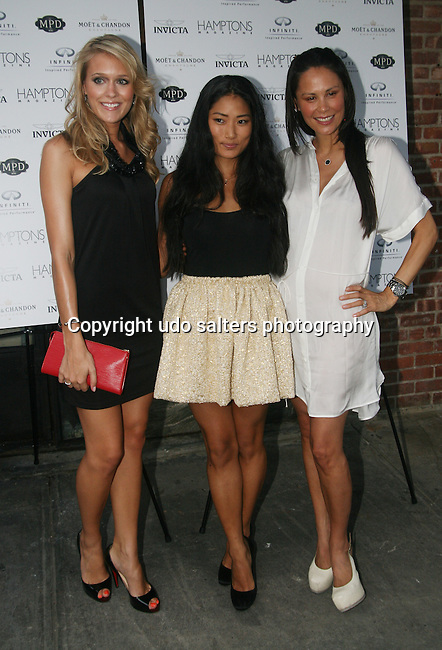 Sandra Saltina Chloe Flower and Julianne Wainstein  attend Bobby Flay Celebrates with Hamptons Magazine-Invicta Watch & Infiniti at MPD, New York