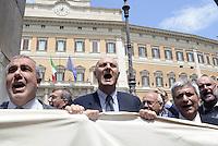 Roma, 20 Maggio 2015<br /> Parlamentari di Sel escono da Montecitorio con uno striscione per la scuola pubblica.<br /> Tra loro Nichi Vendola.<br /> Protesta in Piazza Montecitorio contro il DDL scuola in discussione e votazione alla Camera